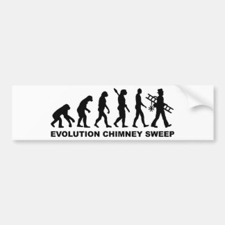 Evolution chimney sweeper bumper stickers
