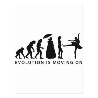 evolution clench postcard