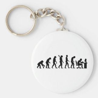 Evolution computer office keychain