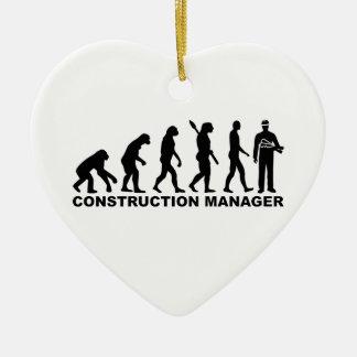 Evolution construction manager ceramic ornament
