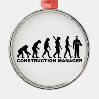Evolution construction manager metal ornament