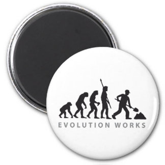 evolution construction more worker 2 inch round magnet