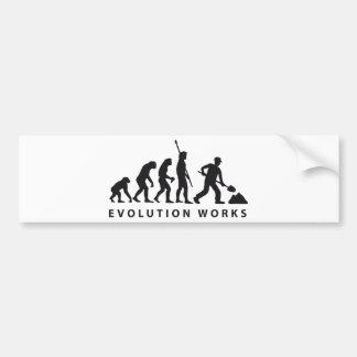 evolution construction more worker bumper sticker