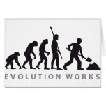 evolution construction more worker greeting cards