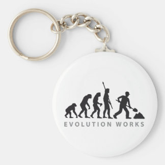 evolution construction more worker keychain