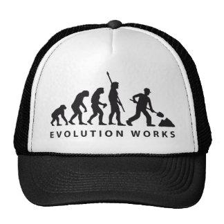 evolution construction worker gorros bordados