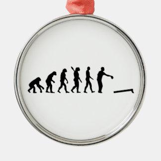 Evolution Cornhole Metal Ornament