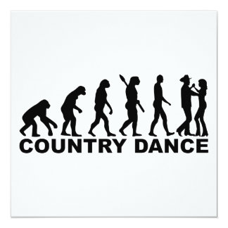 Evolution country dance card