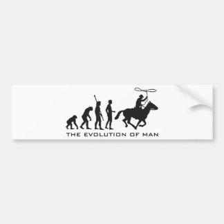 evolution cowboy pegatina para auto