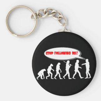 Evolution / Creation Stop Following Me Basic Round Button Keychain