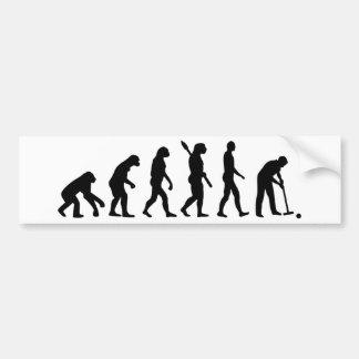 Evolution croquet bumper sticker