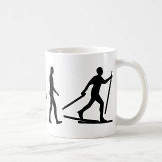 Evolution Cross country skiing Coffee Mugs