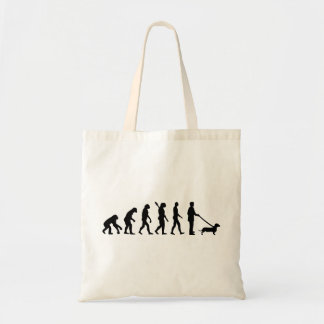Evolution Dachshund Tote Bag