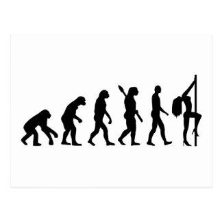 Evolution dance woman postcard