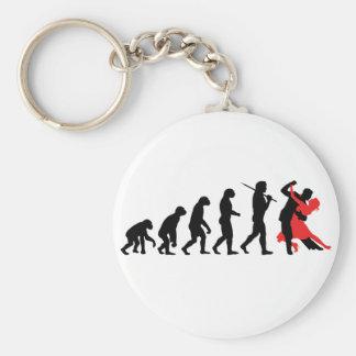 Evolution - Dancing Basic Round Button Keychain