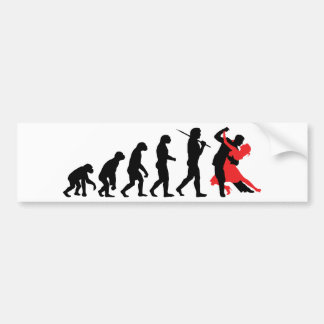 Evolution - Dancing Car Bumper Sticker