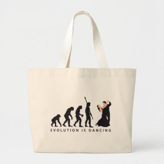 evolution dancing couple tragetaschen