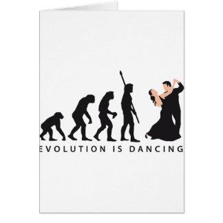 evolution dancing couple grußkarte