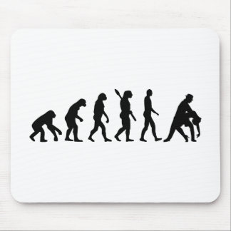Evolution dancing couple mouse pad