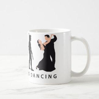evolution dancing couple kaffeetasse