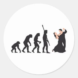 evolution dancing couple