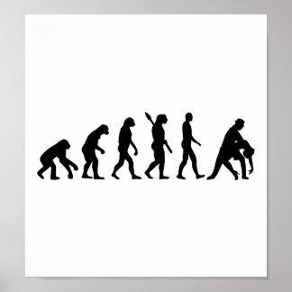Evolution dancing couple poster