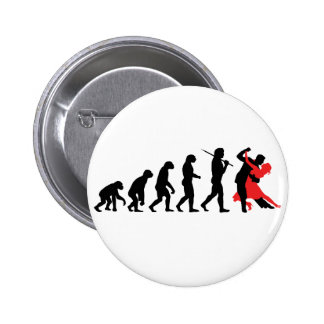 Evolution - Dancing Pinback Button