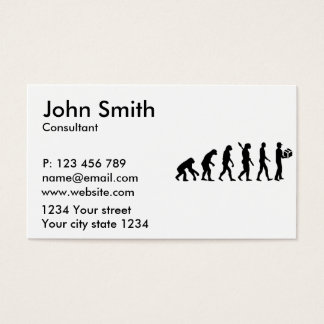 Evolution delivery man business card