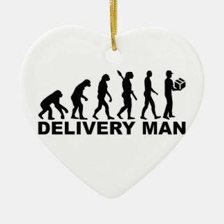 Evolution delivery man ceramic ornament