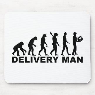 Evolution delivery man mouse pad