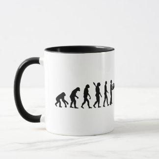 Evolution delivery man mug