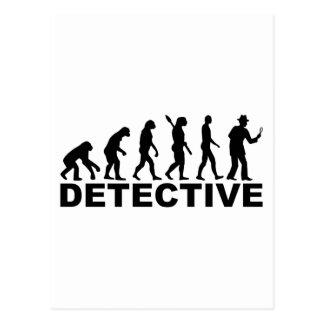 Evolution detective postcard