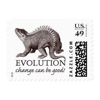 Evolution Dinosaur Humor Postage Stamps