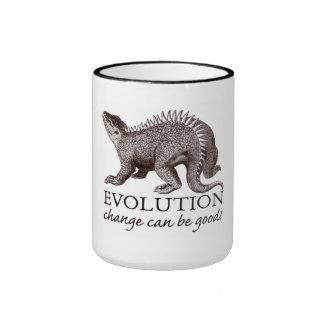 Evolution Dinosaur Ringer Coffee Mug