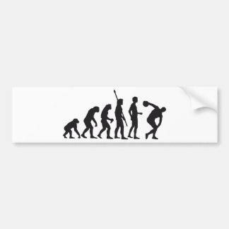 evolution discus more thrower bumper sticker