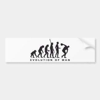 evolution discus more thrower car bumper sticker