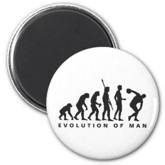evolution discus more thrower refrigerator magnet
