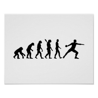 Evolution Discus throw Poster