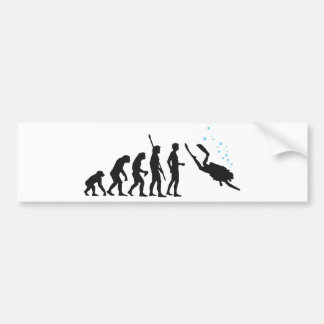 evolution diving bumper stickers