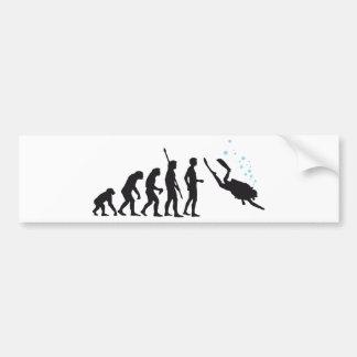 evolution diving pegatina de parachoque