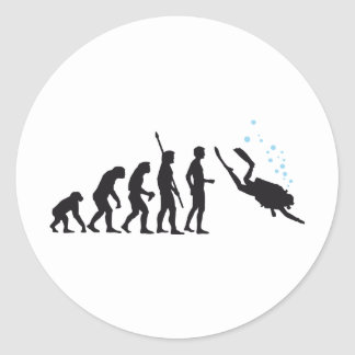 evolution diving classic round sticker