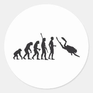 evolution diving round sticker