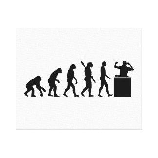 Evolution DJ Canvas Print