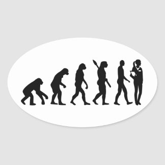 Evolution doctor's assistant oval sticker