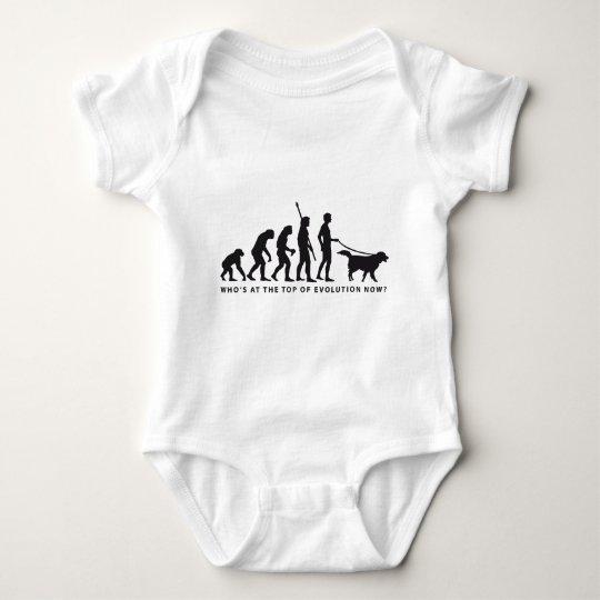evolution dog baby bodysuit