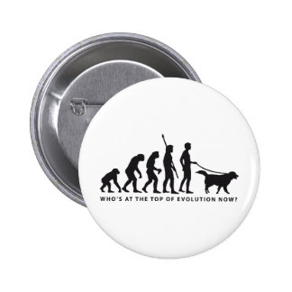 evolution dog pinback button