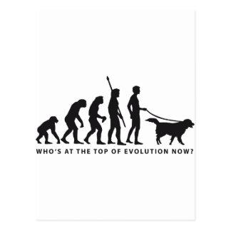 evolution dog postcard