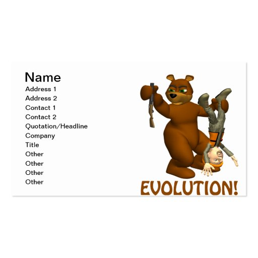 Evolution Double-Sided Standard Business Cards (Pack Of 100)