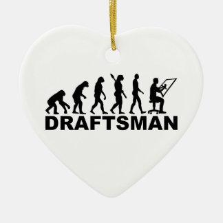 Evolution draftsman ceramic ornament