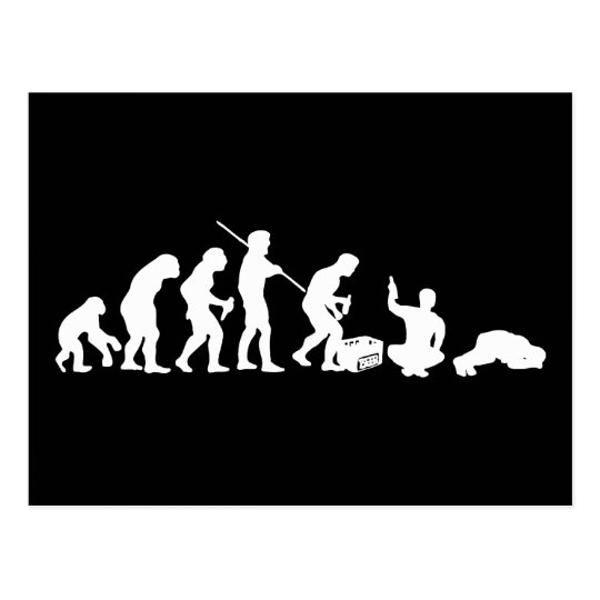 Evolution - drinking/party postcard